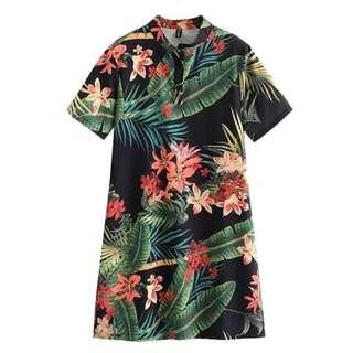 Z&K Casual Bamboo Printed Dress COD