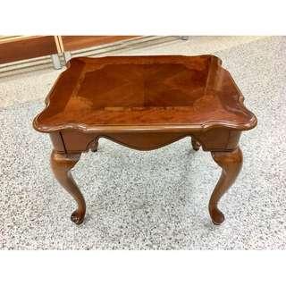 香榭二手家具*歐式虎腳 實木2尺邊几-小茶几-邊桌-矮桌-休閒桌-客廳桌-沙發桌-咖啡桌-木桌-和室桌-中古家具-造型桌