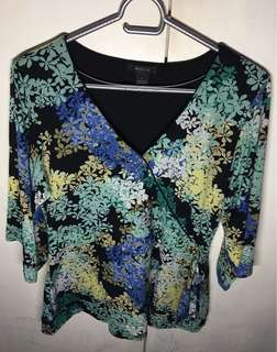🌈Pre-loved Style&co. Floral Blouse
