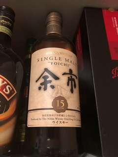 余市威士忌15年