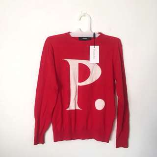 POMELO FASHION red sweater