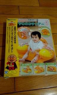 贈送 日本購回 麵包超人 充氣坐墊