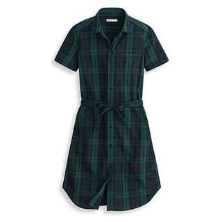 🚚 Lativ洋裝🍰此件$200免運🍦經典藍綠格紋