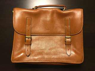 Mulberry classic leather briefcase