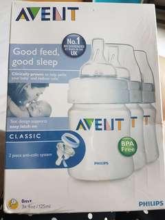 Philips Avent 3x125ml feeding bottles