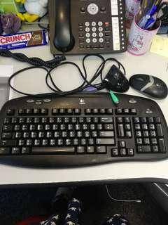 八成新Logitech Keyboard連mouse,特價