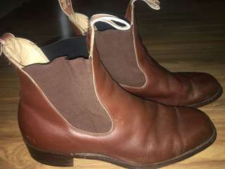 Stafford by Hall Stockman Made in Australia Chelsea boots Chestnut