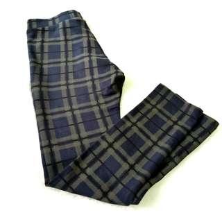 Celana panjang kotak abu navy anak Zara