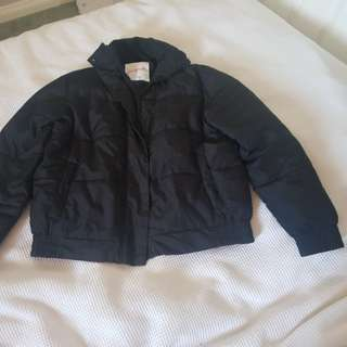 black puffer jacket size s/m