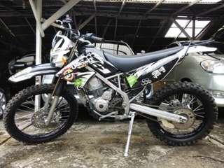 Jual motor kawasaki klx tahun 2012 lengkap