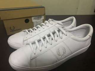 Fred Perry Spencer Leather All White