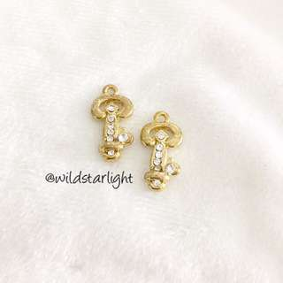 GOLD KEY CHARMS WITH BLINGS