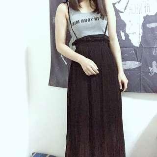 🚚 百折高腰雪紡長裙 #女裝半價拉