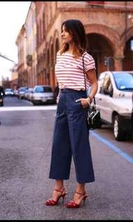 Terno - orange Stripes top and Square Pants