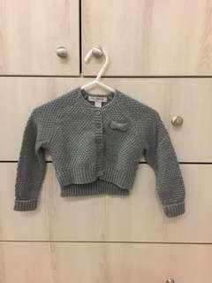 Baby Poney Grey cardigan (9 -18 mths)