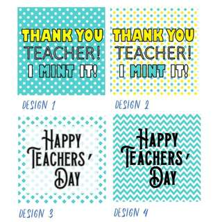 Teachers Day Tags - Personalized - 12 designs!!