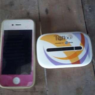 Iphone 4s +Globe Tattoo wifi