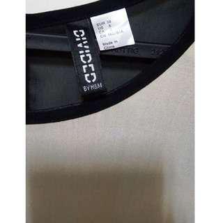 🚚 H&M米白短洋裝