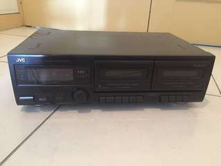 JVC double cassette player