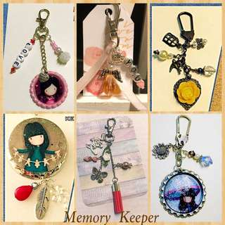 Personalized Key Chain / Bag Charm Sets