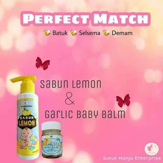 Sabun lemon dan garlic baby balm