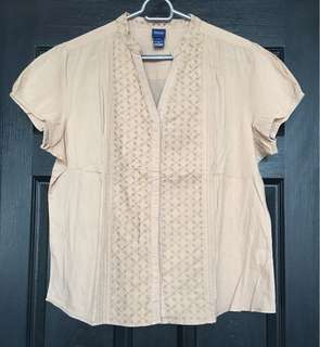 🌈Pre-loved Plus size Polo-typed Blouse