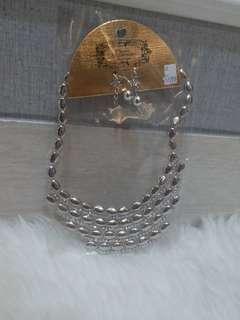 Jewel set (neckalce + earing) 1 set