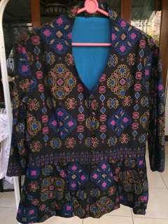 blazer batik tenun L size