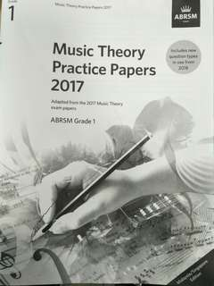 ABRSM Grade 1 music theory 2017 practice paper