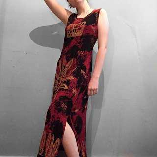 Vintage grunge maxi dress
