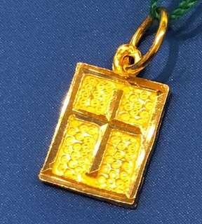 916 Gold Pendant (Cross Design) ❤️❤️