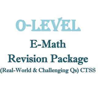 "2018 ""O"" Maths Revision Package (""Real World"" and Challenging Qs) / Sec 3 / Sec 4 / Secondary 3 / Secondary 4 / Math / E Math / Mathematics / CTSS / Clementi Town / Exam Paper / Prelim Paper / 4048"