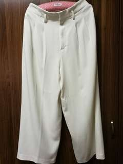 Uniqlo White Square Pants/Trousers