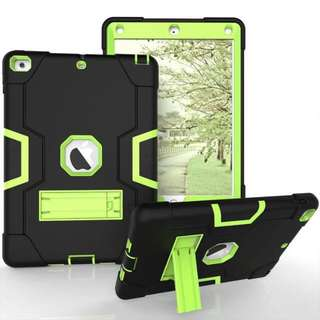 3-Layers Rugged Silicon Shockproof Armoured iPad Case