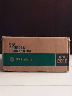 CFA LEVEL 1 2018 BOOKS - BRAND NEW, ORIGINAL