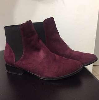 Aldo Oxblood Chelsea Boots