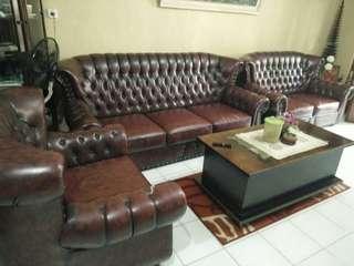 Sofa oscar kulit sentesis mulus