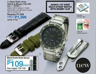 Elijah Multi-Strap Watch&Money Clip Gift