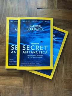National geographic secret Antarctica magazine