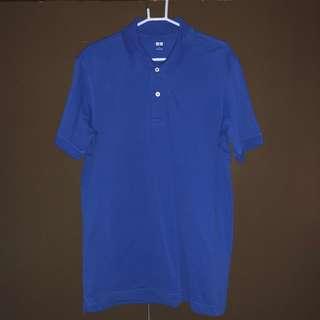 Pre-loved Uniqlo Blue Polo T-shirt