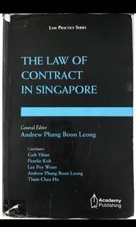 andrew phang the law of contract in singapore smu nus