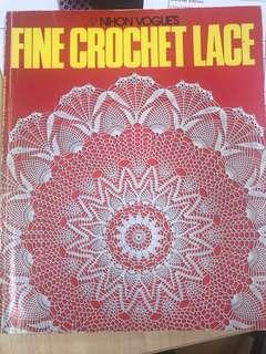 Nihon Vogue's fine crochet lace in english