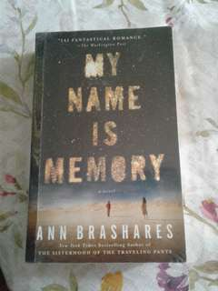 My name is Memory novel by Ann Brashares