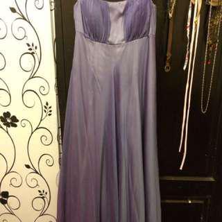 Long dress chic simple gown purple