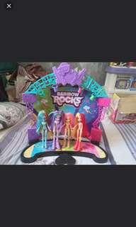 My Little Pony Equestria Girl Rainbow Rock Stage free 4 barbie dolls