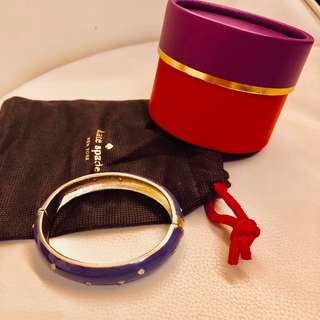 Kate Spade purple gold bangle