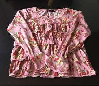 🌈Pre-loved Floral Longsleeves Blouse