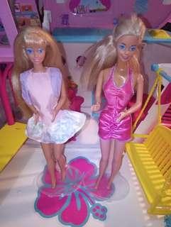 Roller Blading Barbie and Doctor barbie set