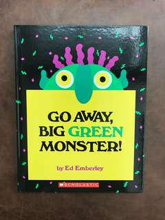 [英文繪本教學] Go away big green monster