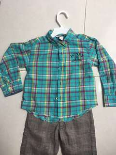 Poney shirt Benetton pants